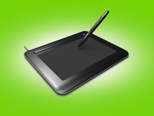 Wacom Bamboo. 3D Illustrationen von Touchpads